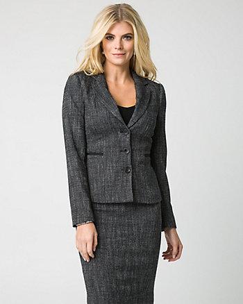 Veste de tweed à col cranté
