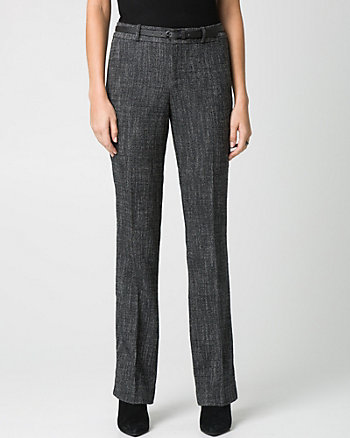 Tweed Straight Leg Modern Fit Pant