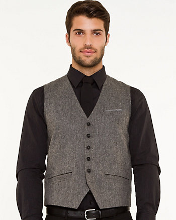 Tweed Contemporary Fit vest