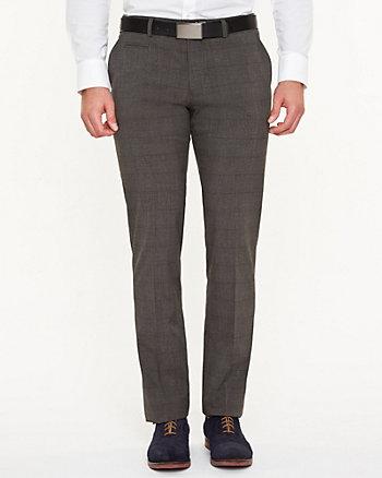 Tonal Check Slim Leg Pant