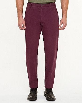Pantalon à jambe étroite en mélange de coton