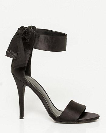 Matte Satin Ankle Strap Sandal