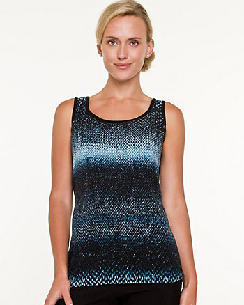 Snake Print Viscose Blend Sweater Tank