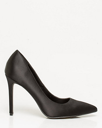 Satin Pointy Toe Pump