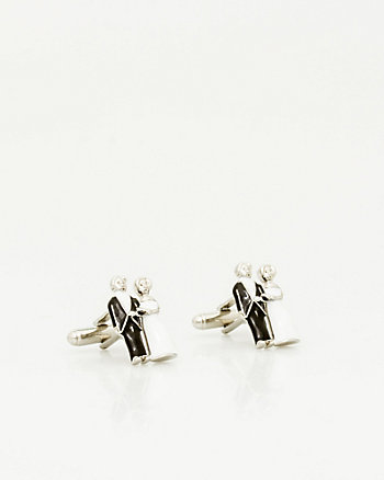 Bride & Groom Icon Cufflink