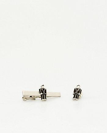 Groom Icon Tie Clip