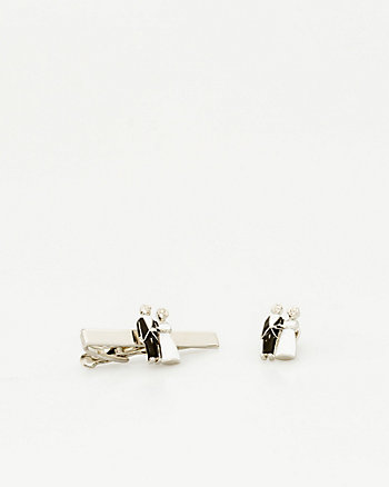 Bride & Groom Icon Tie Clip