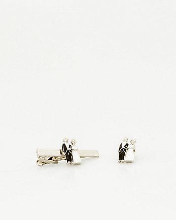 Bride & Groom Icon Tie Clip
