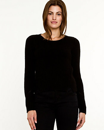 Wool Blend Crop Sweater