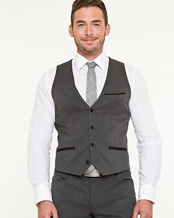 Stretch Woven City Fit Vest