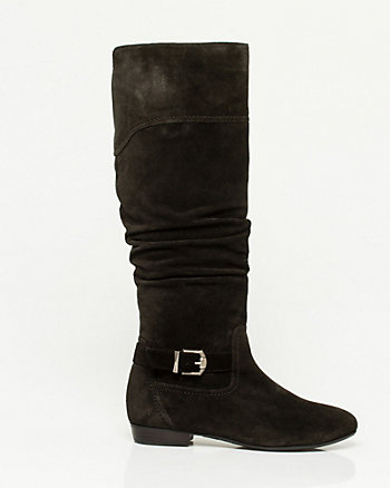 Weather-Resistant Suede Almond Toe Boot