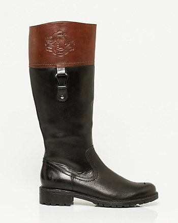 Weather-Resistant Leather Riding Boot
