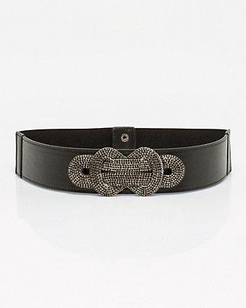 Leather-Like & Elastic Knot Buckle Belt