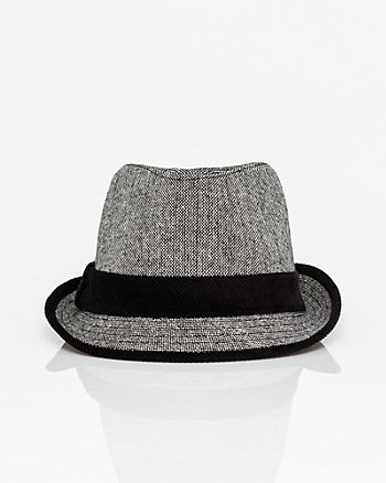Wool Blend Tweed Fedora