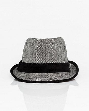 Wool Blend Tweed Fedora