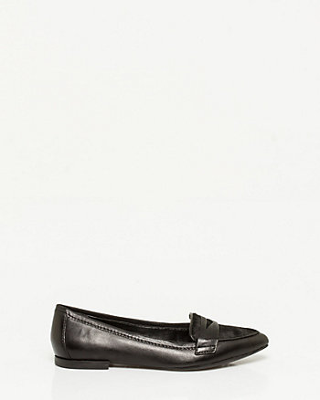Leather & Pony Hair Loafer