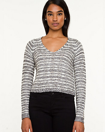 Stripe Crop Sweater