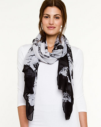 Abstract Print Lightweight Scarf