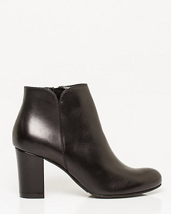 Italian Design Leather Ankle Boot