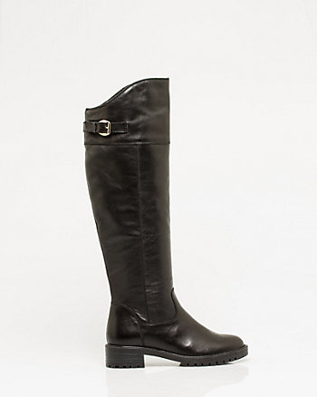 Italian Design Leather Lug Sole Boot