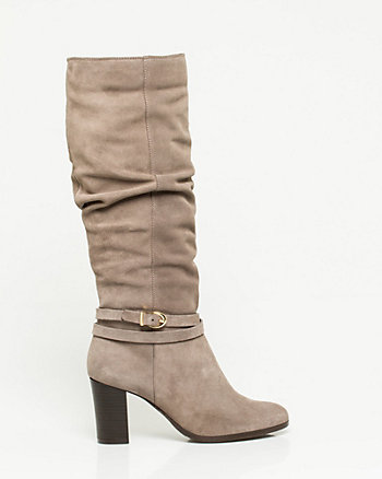 Italian Design Suede Knee-High Boot