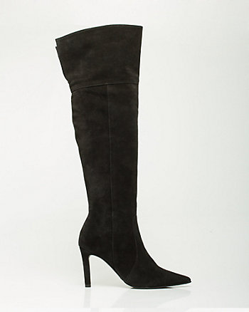 Italian Design Suede Over-the-Knee Boot