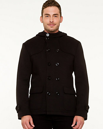 Cotton Blend Hooded Car Coat