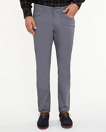 Pantalon à jambe étroite en coton