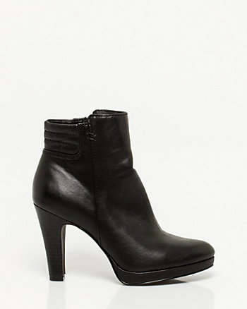 Leather-Like Almond Toe Boot