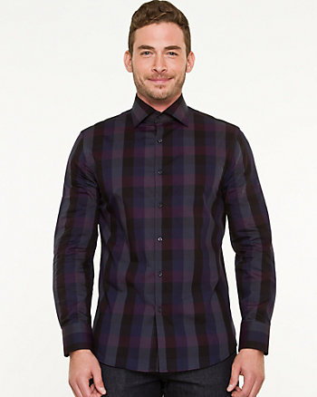 Cotton Check Tailored Fit Shirt