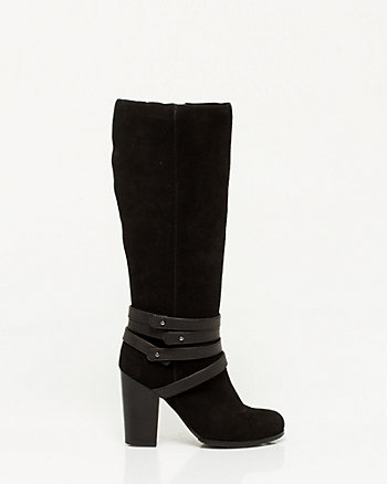 Suede Knee-High Boot