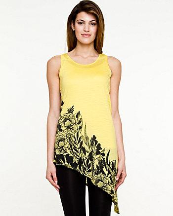Floral Knit  Asymmetrical Tunic