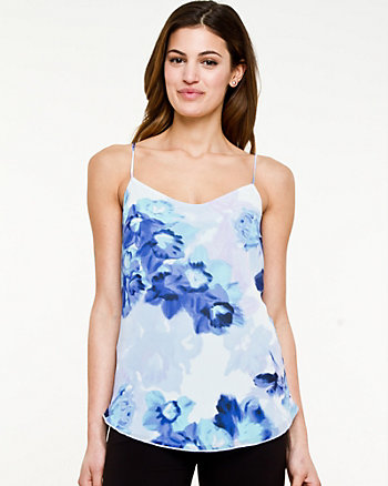 Floral Chiffon V-Neck Camisole