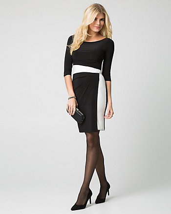 Knit Boat Neck Dress