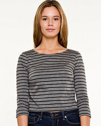 Stripe Knit Crop Top