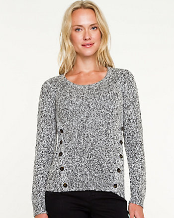 Wool Blend Scoop Neck Sweater