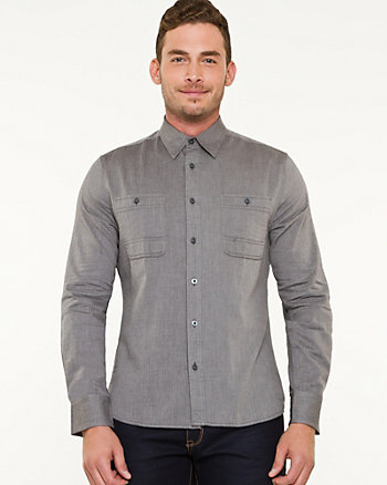 Cotton Herringbone Slim Fit Shirt