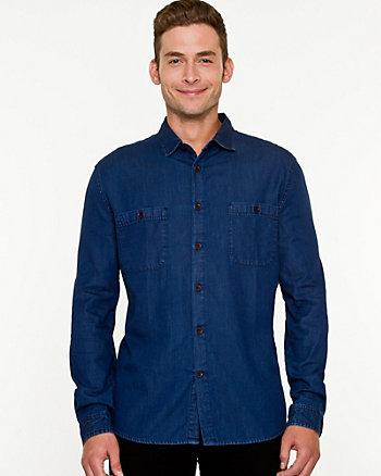 Tonal Denim Tailored Fit Shirt