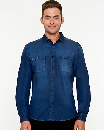 Denim Tailored Fit Shirt