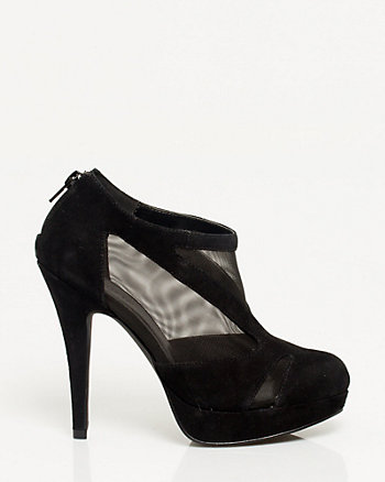 Suede-like & Mesh Shootie