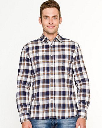 Chemise de coupe semi-ajustée à carreaux
