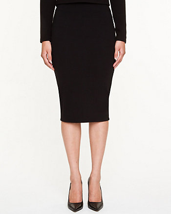 Jacquard Knit Midi Skirt