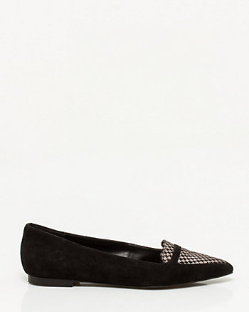 Houndstooth Pointy Toe Loafer