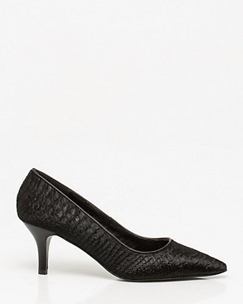 Embossed Pony Hair Pump