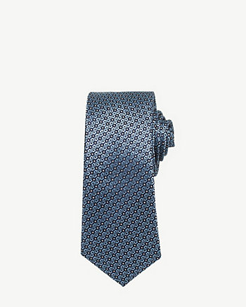Silk Print Skinny Tie
