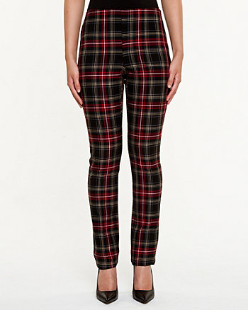 Plaid Slim Fit Pant
