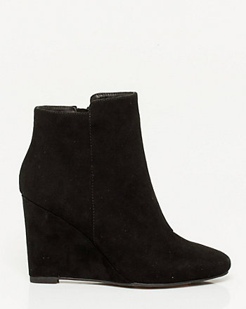 Suede-like Wedge Boot