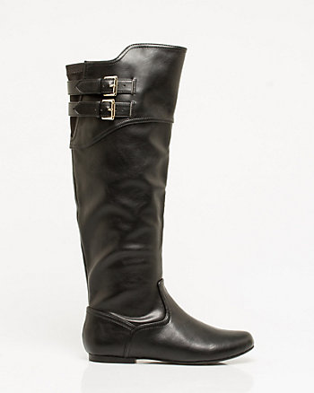 Leather-Like Knee-High Boot
