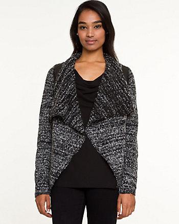 Tweed Open-Front Cardigan
