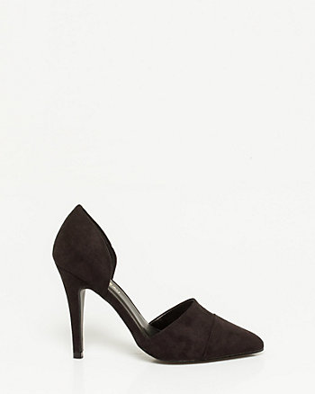 Suede-like Pointy Toe Pump